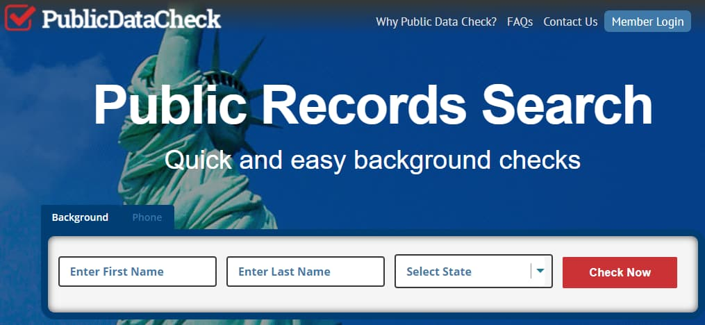 Publicdatacheck Login